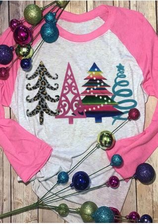 Christmas Tree Star Baseball T-Shirt