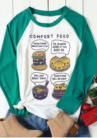 Comfort Food Hamburger Baseball T-Shirt