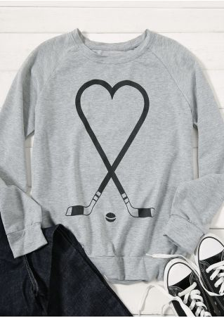 Golf Heart Raglan Sleeve Sweatshirt