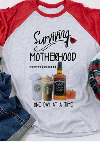 Surviving Motherhood One Day Baseball T-Shirt