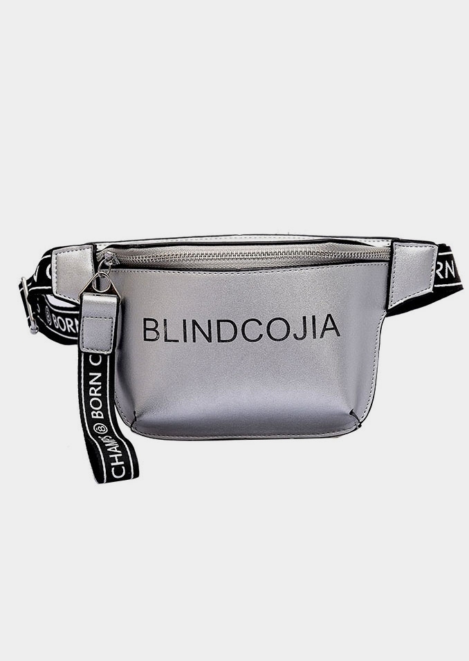 PU Zipper Adjustable Strap Fanny Pack
