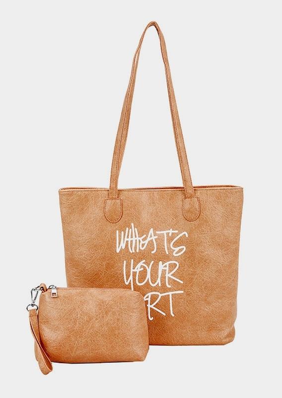 What's Your Art Zipper Handbag Set
