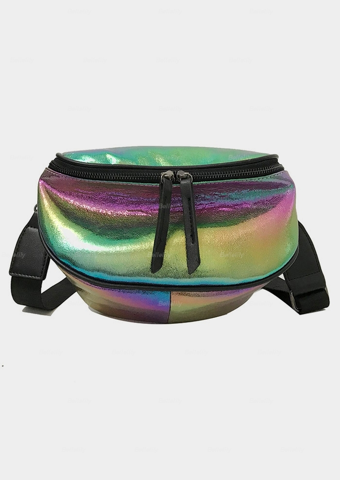 PU Zipper Adjustable Strap Fanny Pack