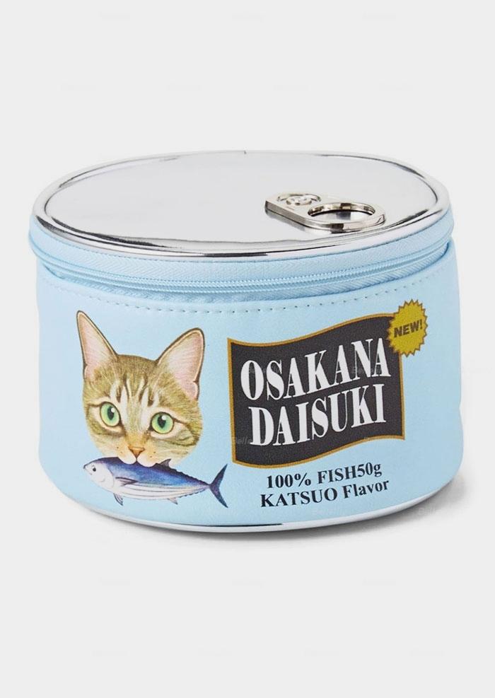 Cat Can Simulation Cosmetic Bag