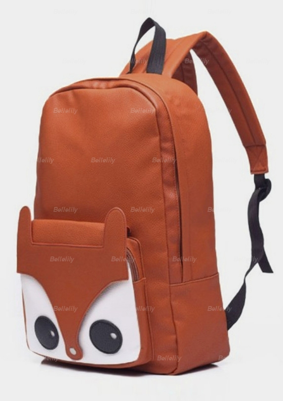 Fox Face Shaped PU Backpack