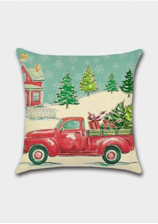 Christmas Tree Snow Pillow Case