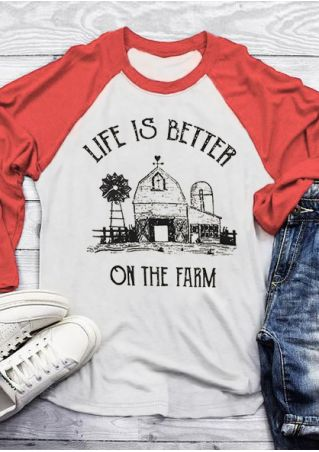Life Is Better On The Farm Baseball T-Shirt