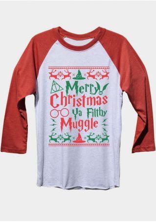 2b686f735 Merry Christmas Harry Potter Baseball T-Shirt