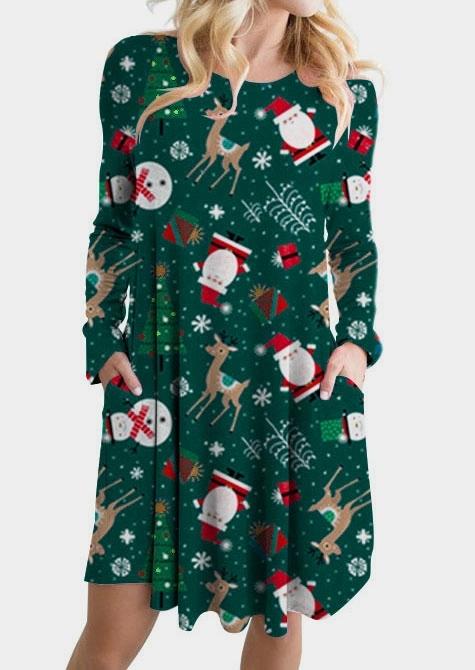 Santa Deer Snowman Mini Dress
