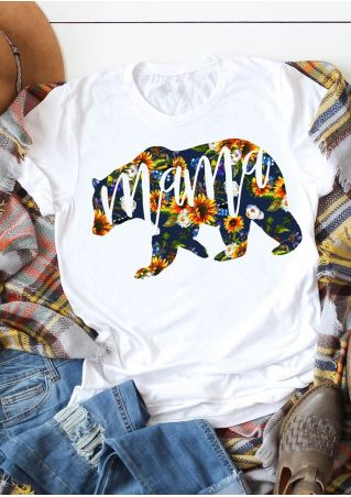 Mama Bear Floral Short Sleeve T-Shirt