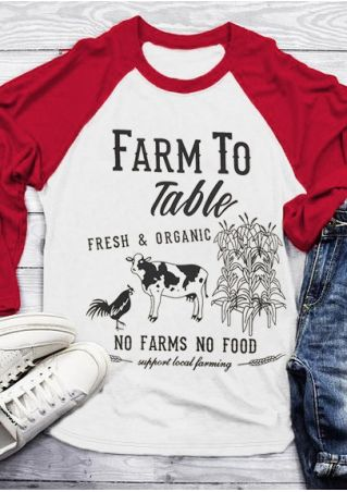 Farm To Table Baseball T-Shirt