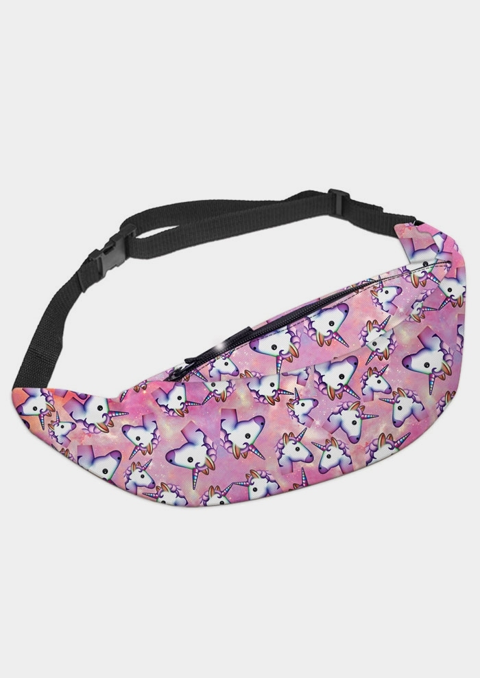 Unicorn Star Adjustable Strap Fanny Pack