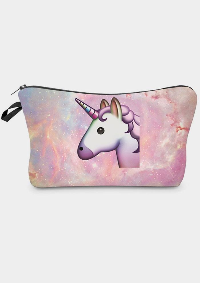 Unicorn Zipper Cosmetic Bag  Pencil Case