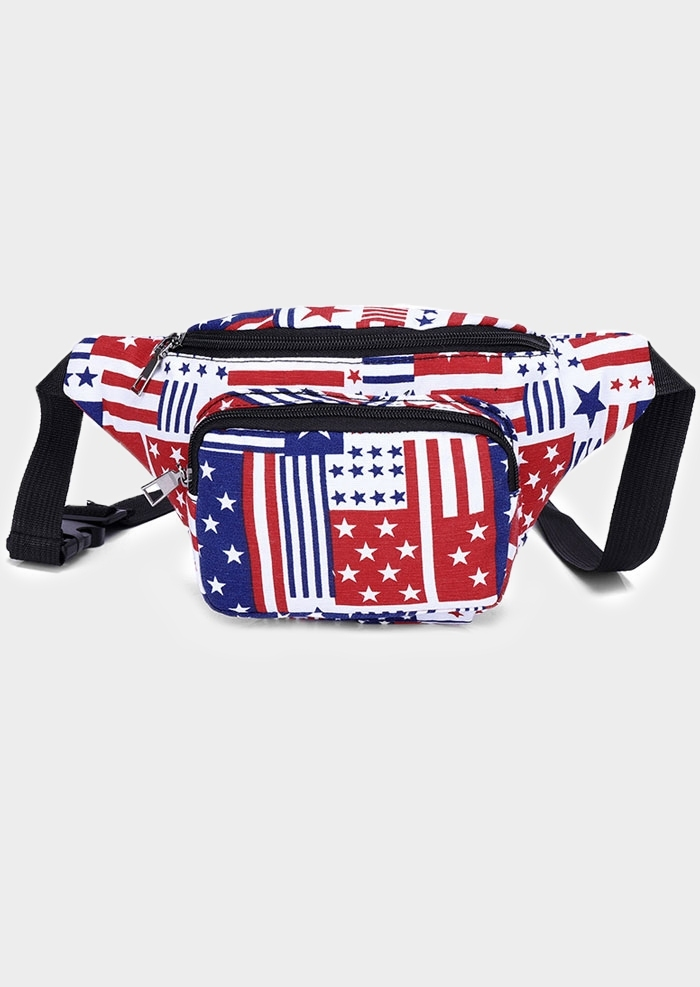 American Flag Adjustable Strap Fanny Pack
