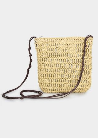 Straw Hollow Out Crossbody Bag