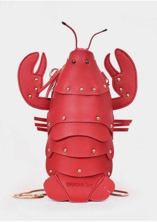 Lobster Shaped PU Crossbody Bag