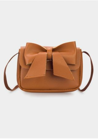 Solid Bow Knot Crossbody Bag