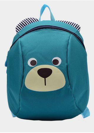 Bear Face Shaped Zipper Backpack