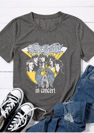 Aerosmith In Concert O-Neck T-Shirt
