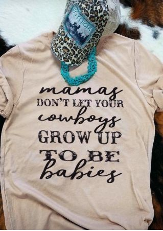 Mamas Cowboys Grow Up T-Shirt