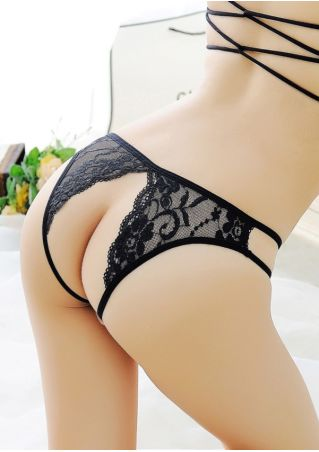 Solid Lace Floral Sexy Panties