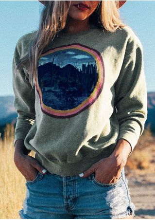 Desert Cactus O-Neck Sweatshirt