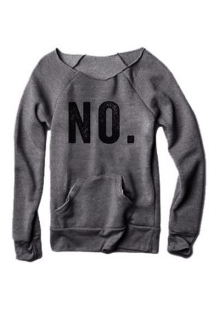 NO Pocket Long Sleeve Sweatshirt