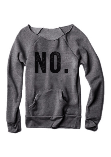 NO Pocket Long Sleeve Sweatshirt