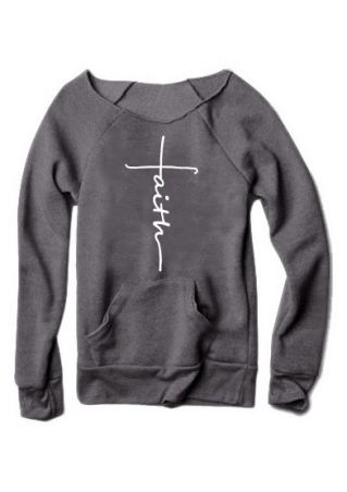 Faith Pocket Long Sleeve Sweatshirt