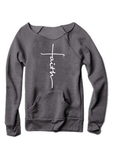 Faith Pocket Long Sleeve Sweatshirt