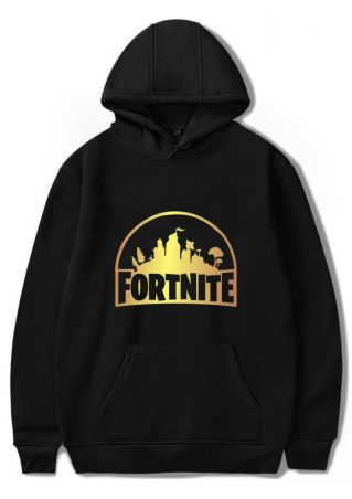 Fortnite Pocket Long Sleeve Casual Hoodie