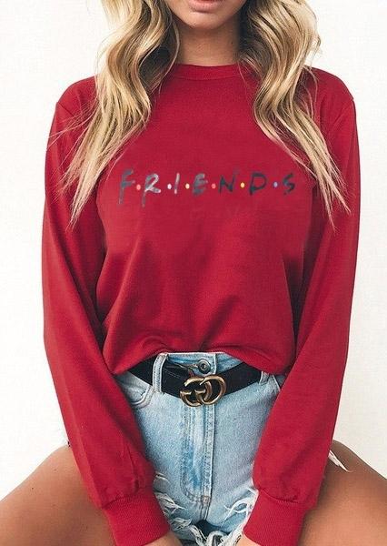Friends O-Neck Long Sleeve Sweatshirt