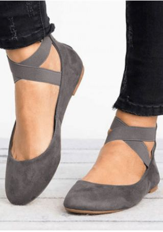 Solid Cross Zipper Flats