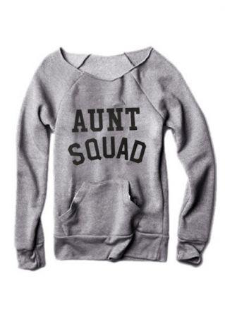 Aunt Squad Long Sleeve Sweatshirt