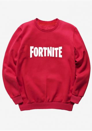 Fortnite O-Neck Long Sleeve Sweatshirt