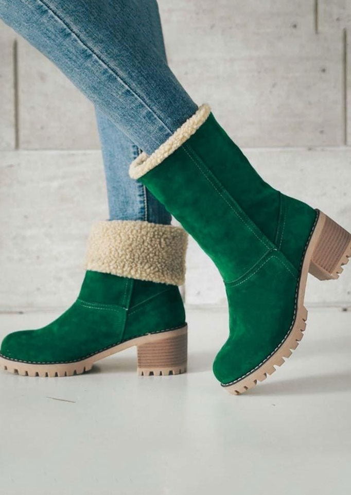 Fluffy Round Toe Snow Boots