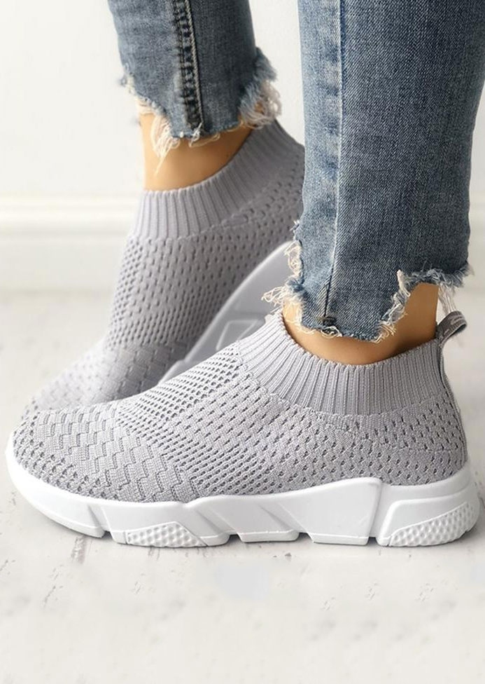 Round Toe Slip On Sport Sneakers