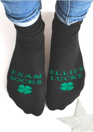 Ellie's Lucky Exam Socks