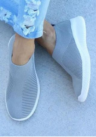 Solid Slip On Flat Sneakers
