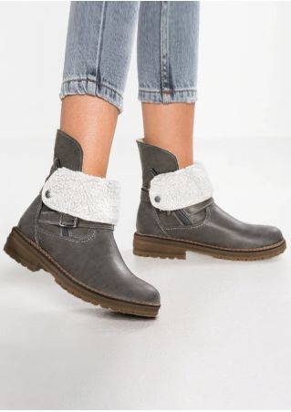 Splicing Buckle Strap Boots