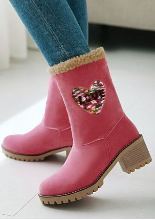 Love Heart Snow Boots