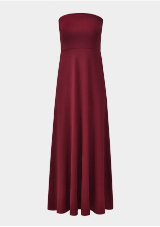 Solid Sleeveless Vintage Maxi Dress