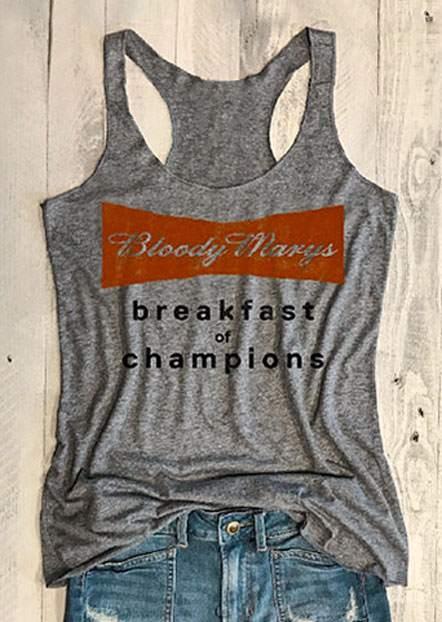 Bloody Marys Breakfast Of Champions Tank