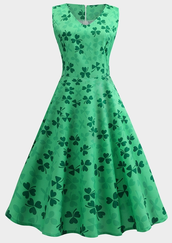 Shamrock St. Patrick's Day Casual Dress