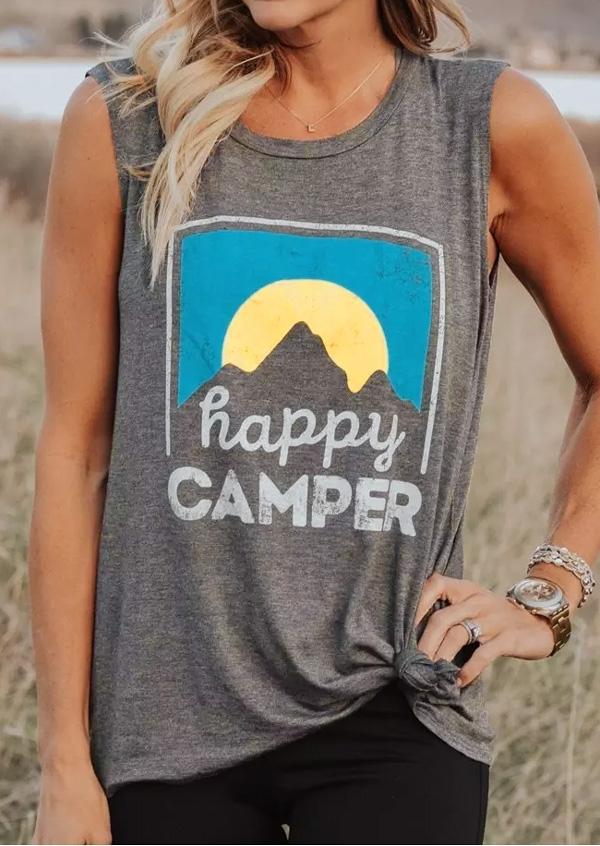 Happy Camper O-Neck Tank