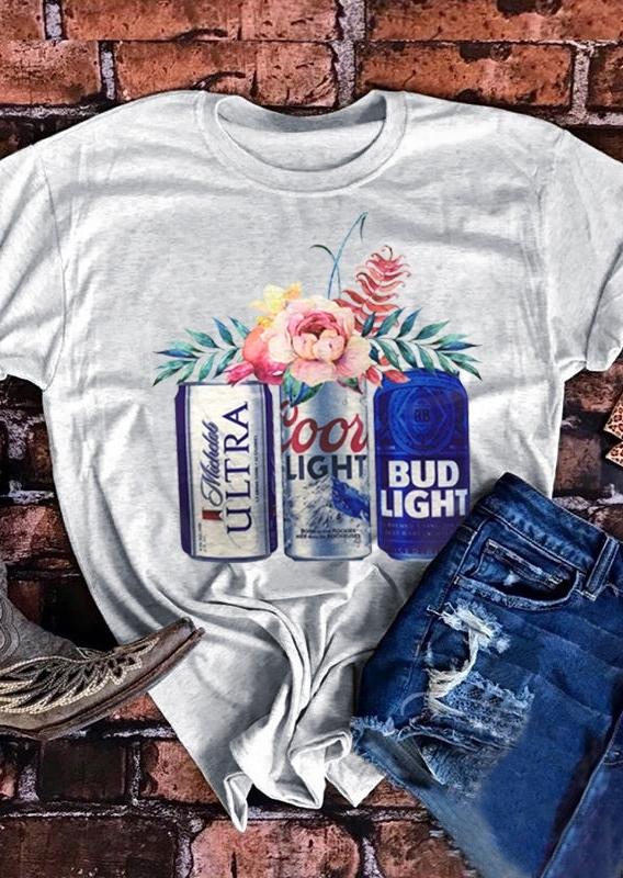Coors Light Bud Light Michelob Ultra Beer T-Shirt