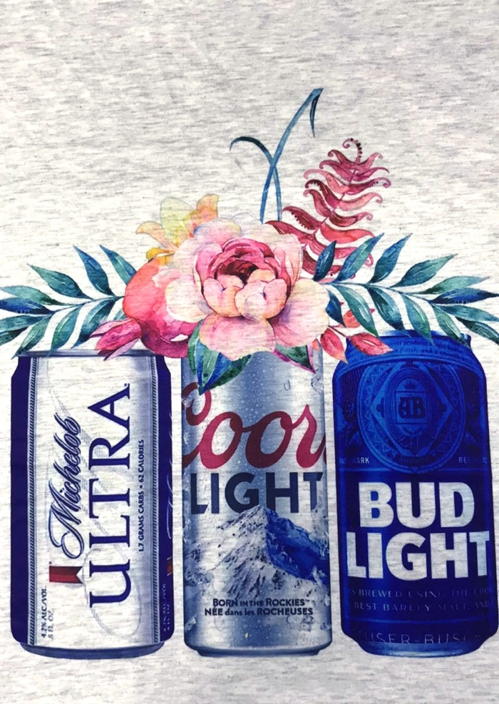 ab5605f304b06 Coors Light Bud Light Michelob Ultra Beer T-Shirt - Bellelily