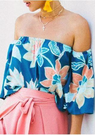 Floral Printed Off Shoulder Blouse