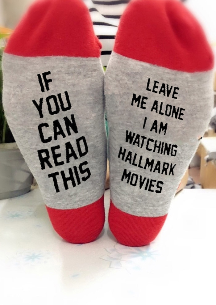 Christmas I Am Watching Hallmark Movies Socks