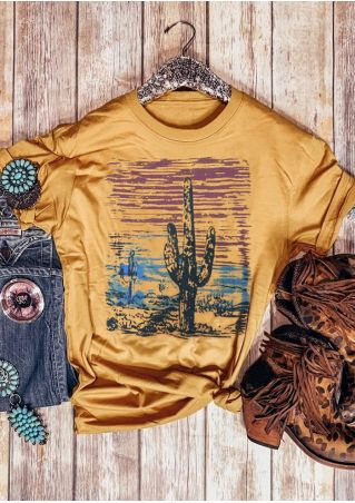 Cactus Sunset Short Sleeve T-Shirt
